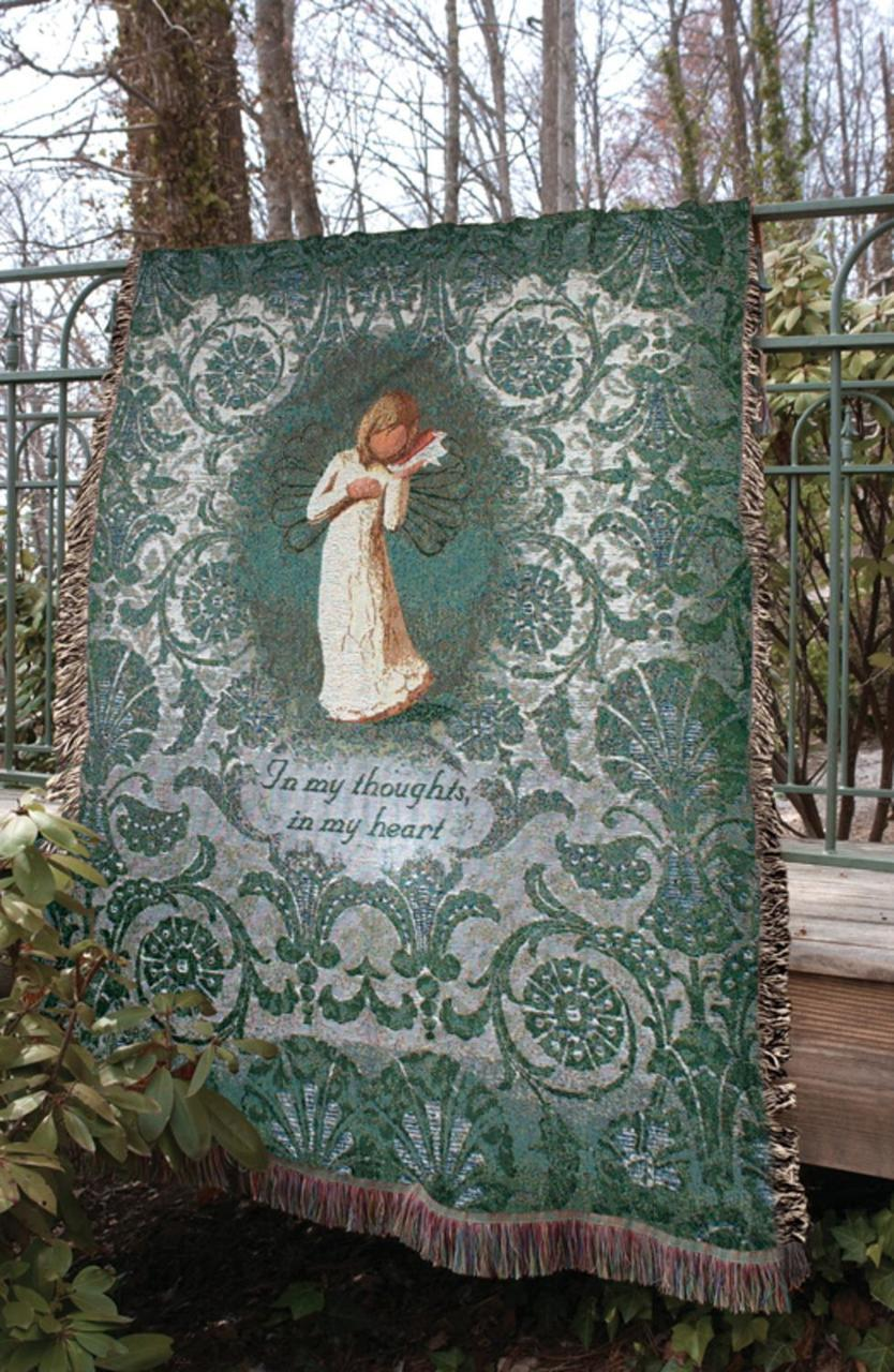 Willow Tree Angel Bereavement Blanket Shirley Family Gifts